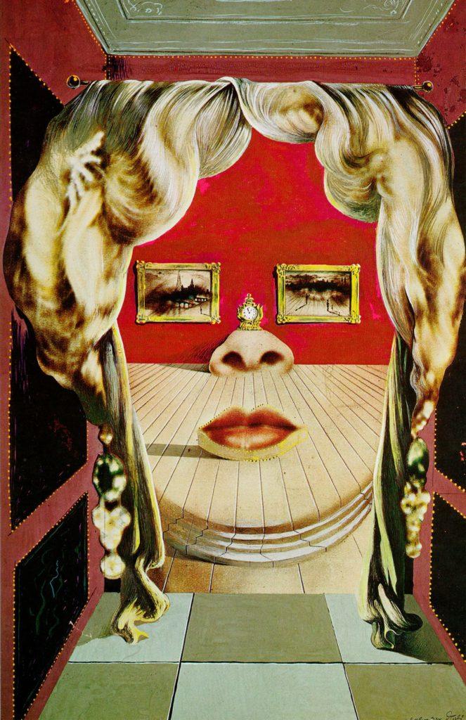 Rostro de Mae West como apartamento surrealista, Salvador Dalí (1934-1935)