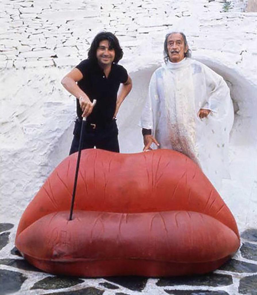 Sofá labios Maes West. óScar Tusquets y Salvador Dalí, 1972